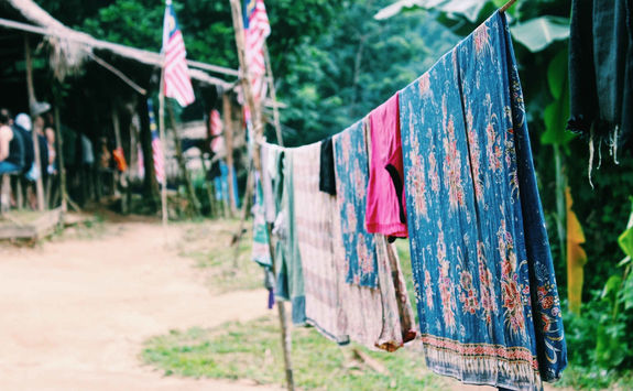 Colorful washing line Kampung