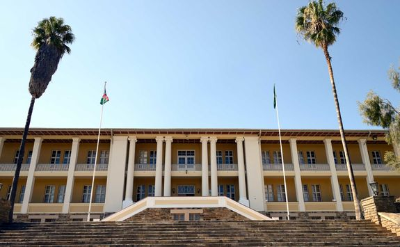 parliament in windhoek close up