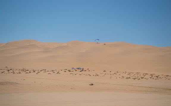 parachute in dunes