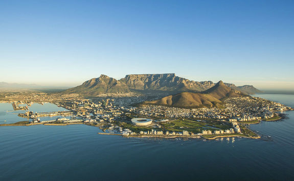Aerial view Cape Town