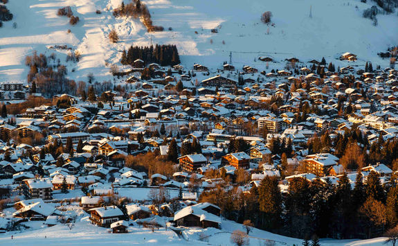 Aerial view of Megeve