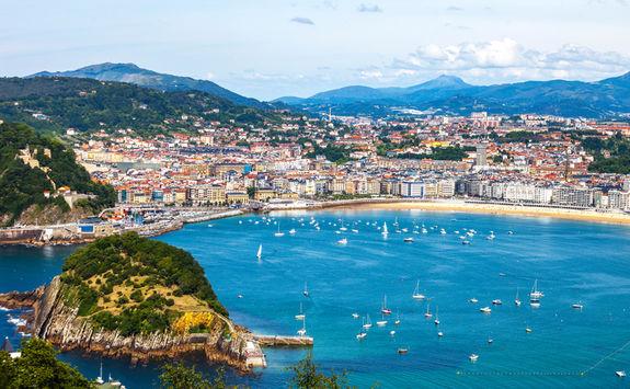 Aerial view San Sebastian