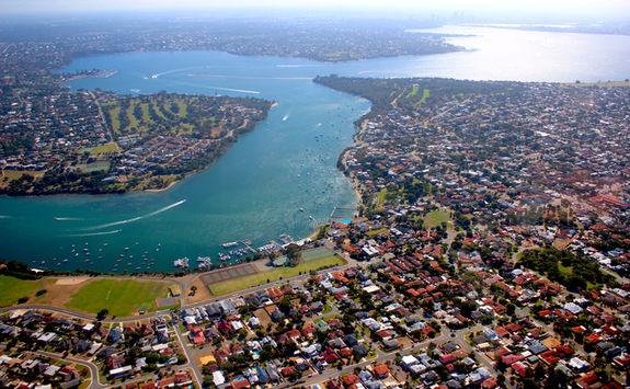 Aerial view of Perth