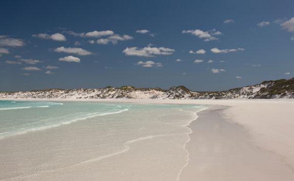 White sands silica beach
