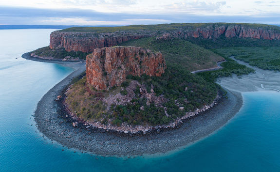 Raft point aerial view