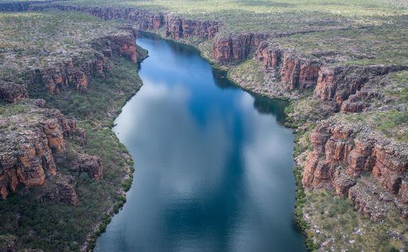 Aerial view King George river