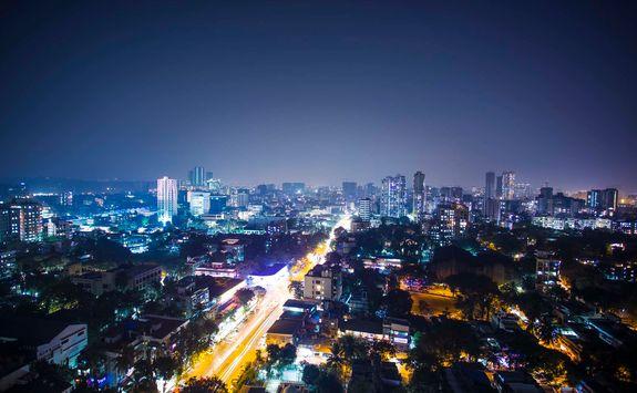 night city view mumbai