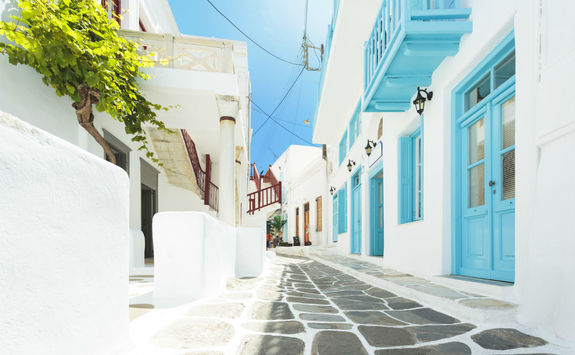 Pretty street in Mykonos