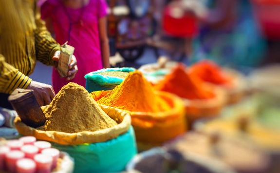 traditional street market delhi