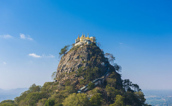 Temple on Mount Popa