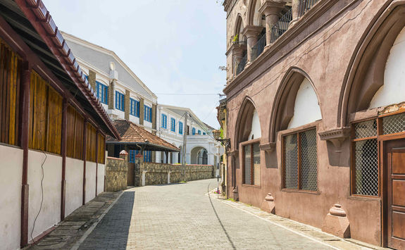 Street of the fort in Galle