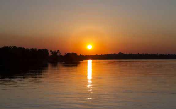 Sun setting over the Zambezi