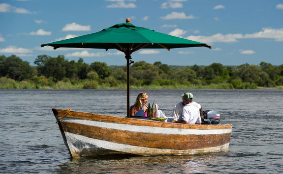 Cruising along the Zambezi