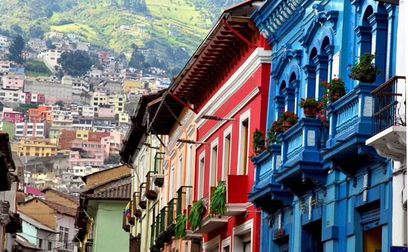 Colourful houses in Quito