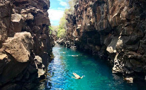 Natural pool at Puerto Ayora