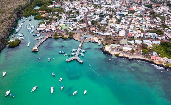 Aerial view of Santa Cruz