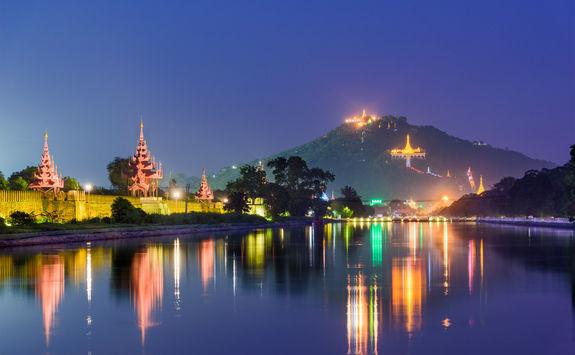 Mandalay Palace moat