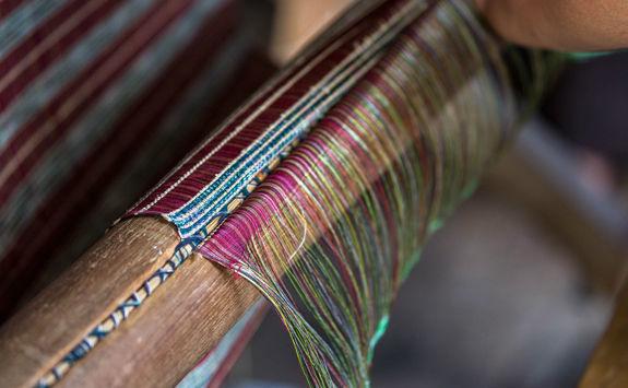Lotus weaving in Myanmar