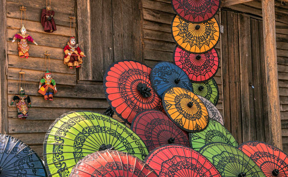 Colourful umbrellas