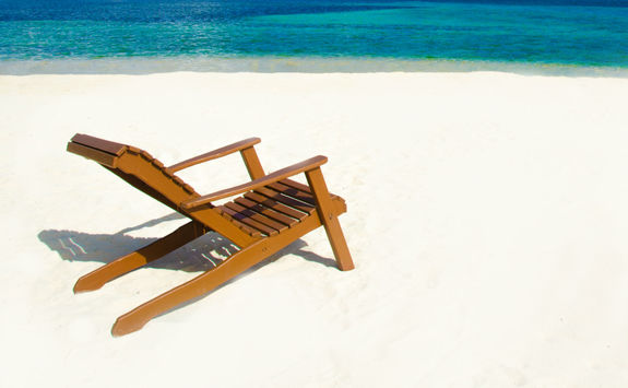 Chair on a beach in Belize