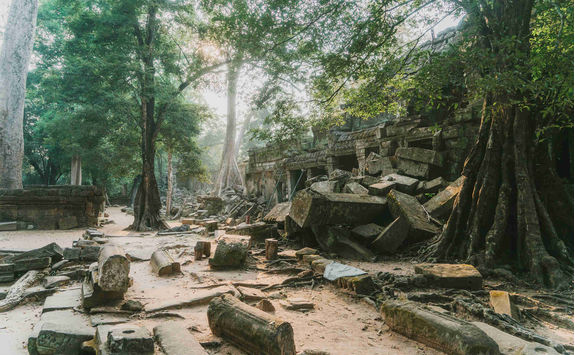 Angkor temple at sunrise