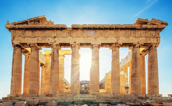 Sun through the Acropolis