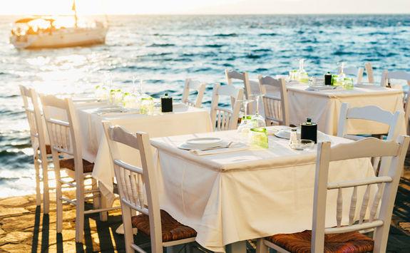 Aegean sea dinner