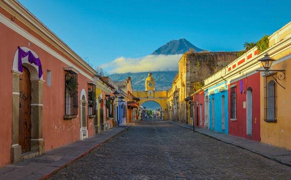 Antigua city sunrise