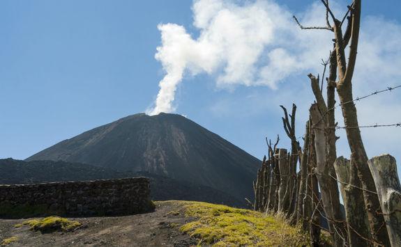 Pacaya Volcano smoke