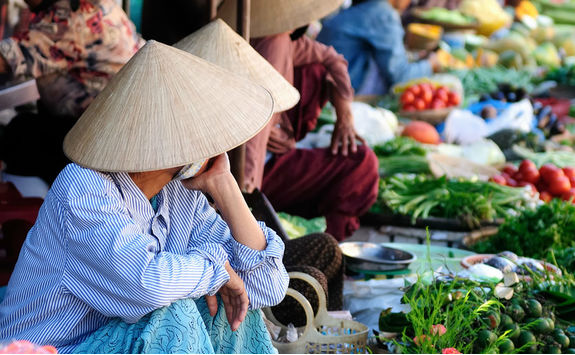 vietnamese ethnic colourful market