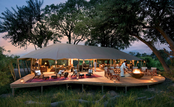Duba expedition camp dining tent deck