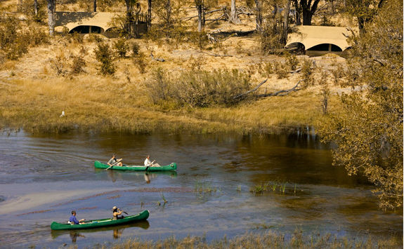 Canoeing on the spillway