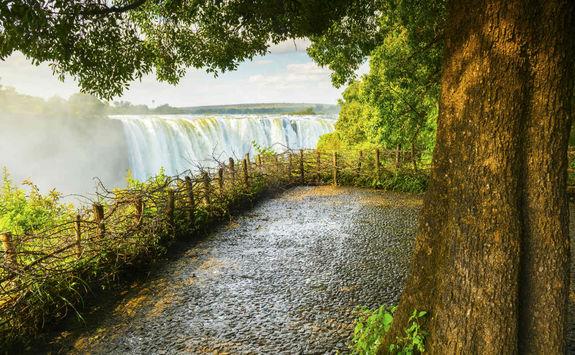 Victoria Falls pathway
