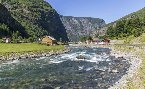 Flam selvi river in Flam Valley