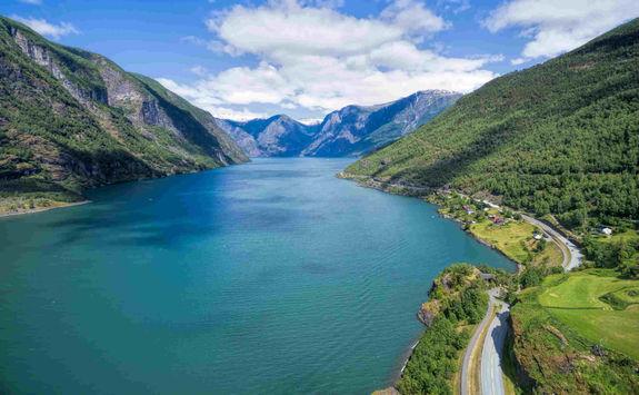 Aurlandsfjorden river