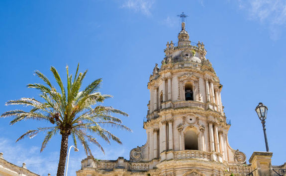 modica cathedral from below