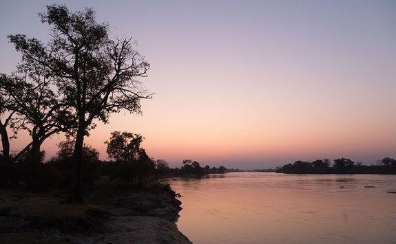 Mpala Jena sunset over Zambezi River