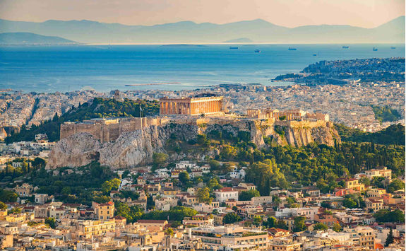 Aerial view of Athens