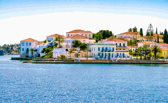 Coast of Spetses island