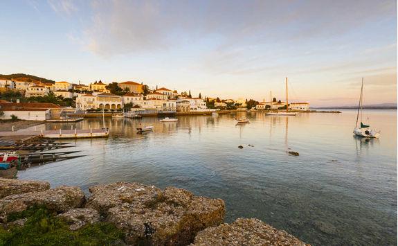 Sunset on Spetses island