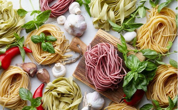 raw homemade italian pasta