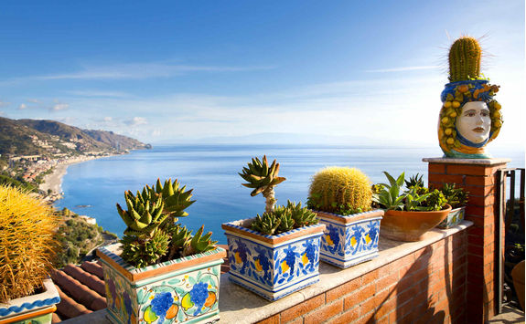 Balcony above the Mediterranean sea