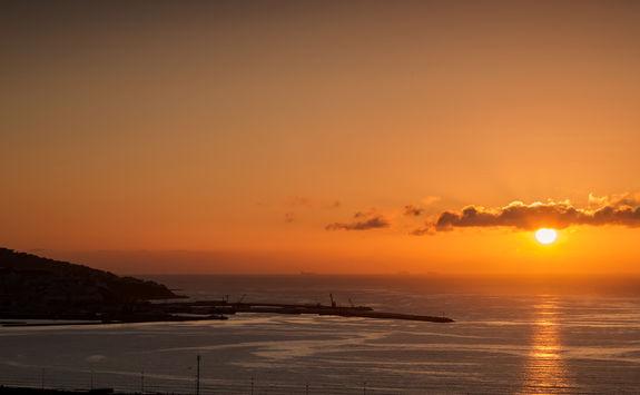 Tangier beach sunset