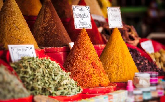 Spices in Essaouira market