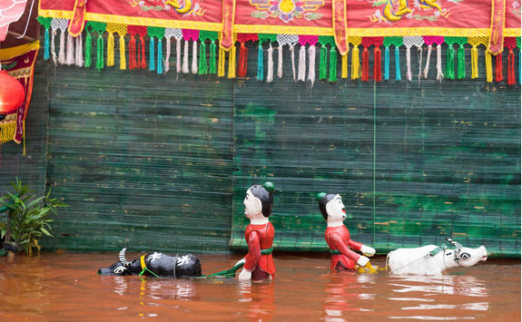 Vietnamese water puppetry show