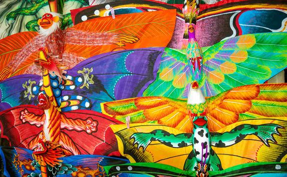 Background of colourful kites