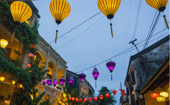 Asia lanterns in Hoi An old town