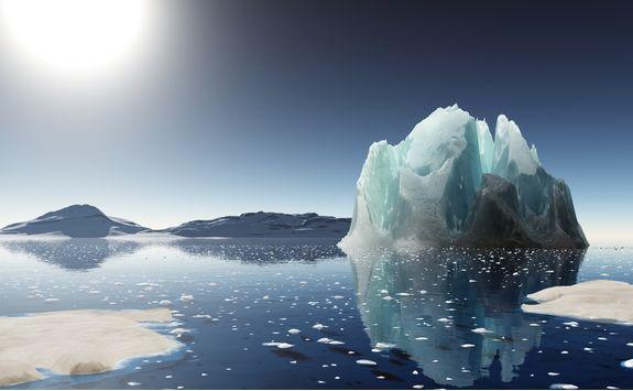 icerberg at sunset