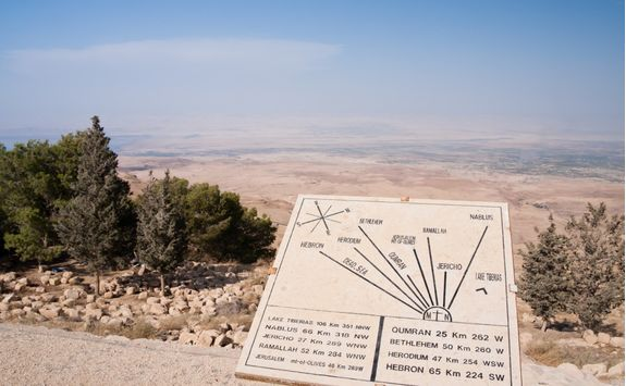 map of the holyland on mount nebo