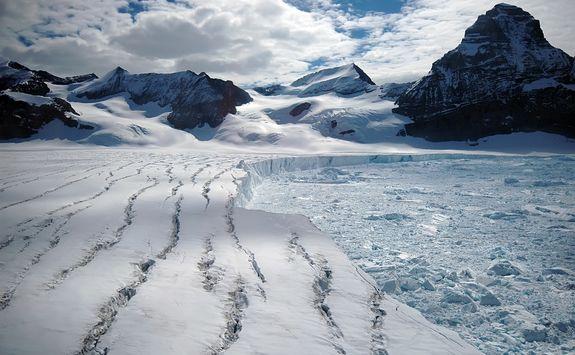 melting antarctic glacier